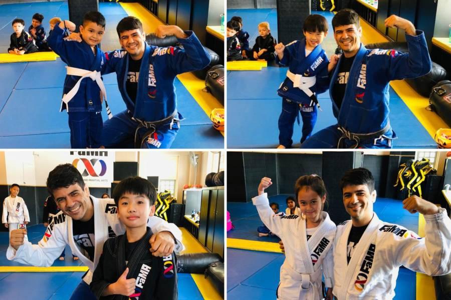 fama singapore kids martial arts bjj brazilian jiu jitsu belt promotion