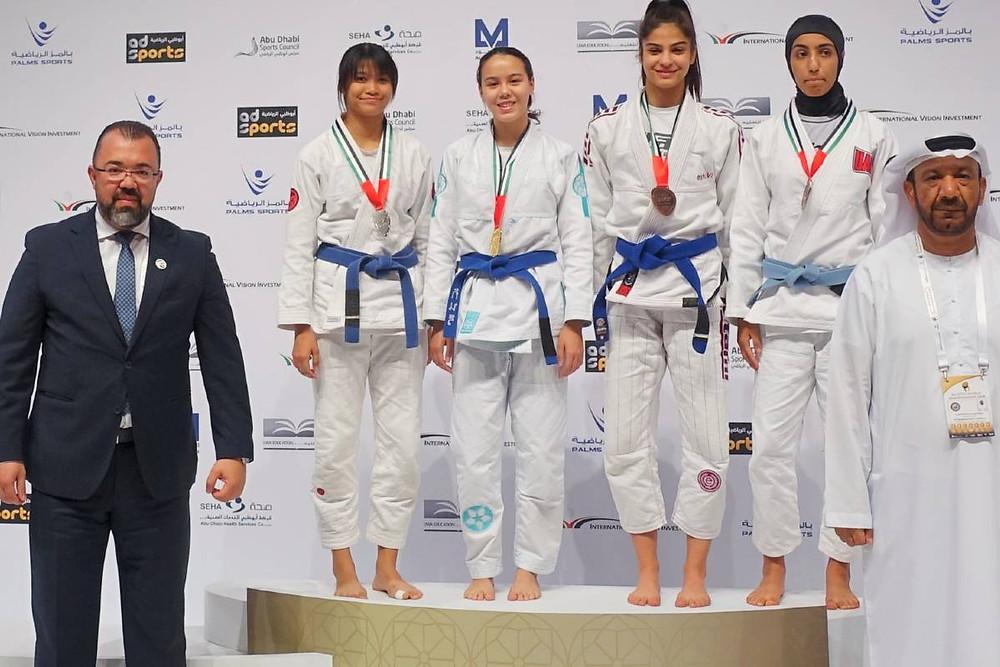 fama singapore youth brazilian jiu jitsu bjj kinaree adkins at abu dhabi jiu jitsu international u18 world championship gold medal winner champion
