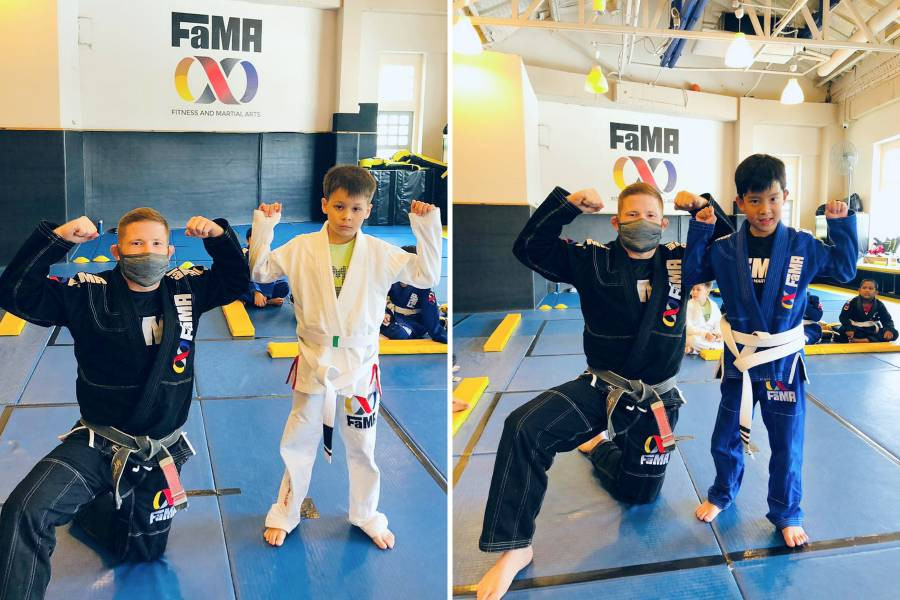 fama singapore kids martial arts brazilian jiu jitsu bjj stripes with professor robyn