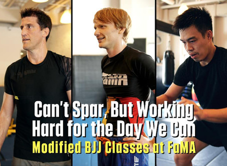 Can't Spar, But Working Hard for the Day We Can: Modified BJJ Classes at FaMA