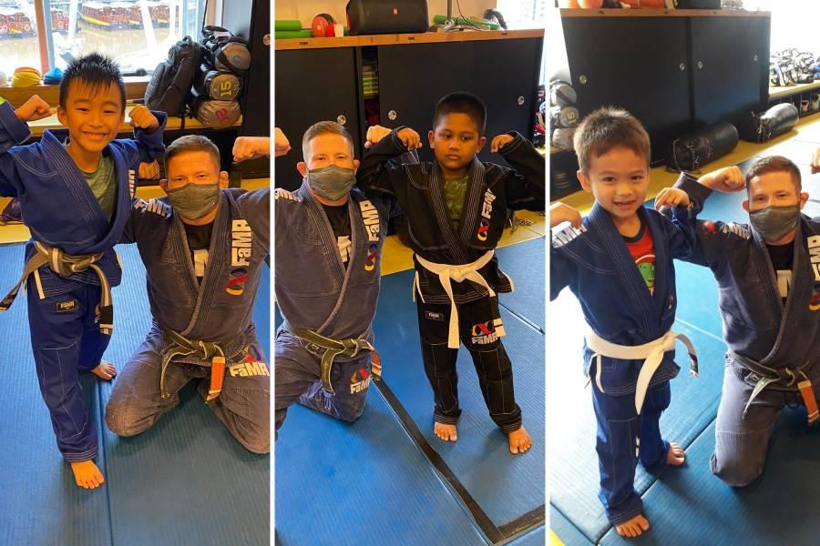 fama brazilian jiu jitsu bjj kids martial arts stripe promotion