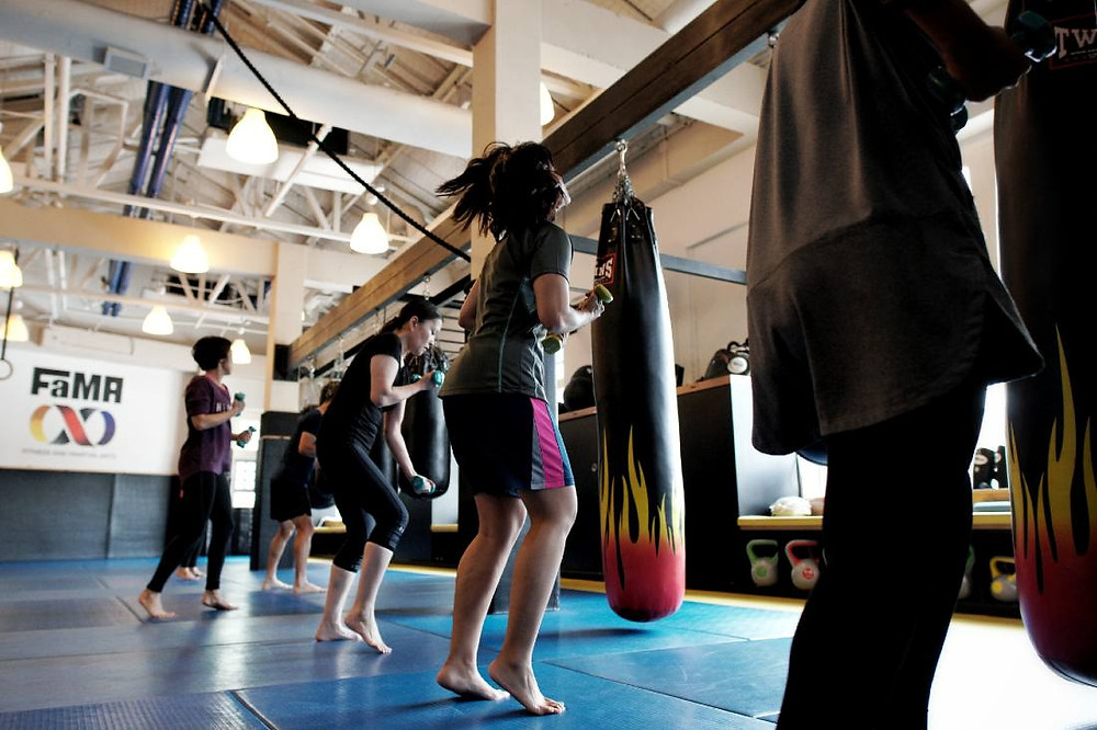 fama singapore ladies fitness boxing workout
