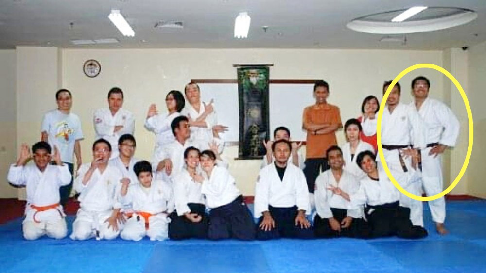 fama singapore bjj assistant instructor ronny as a brown belt in aikido