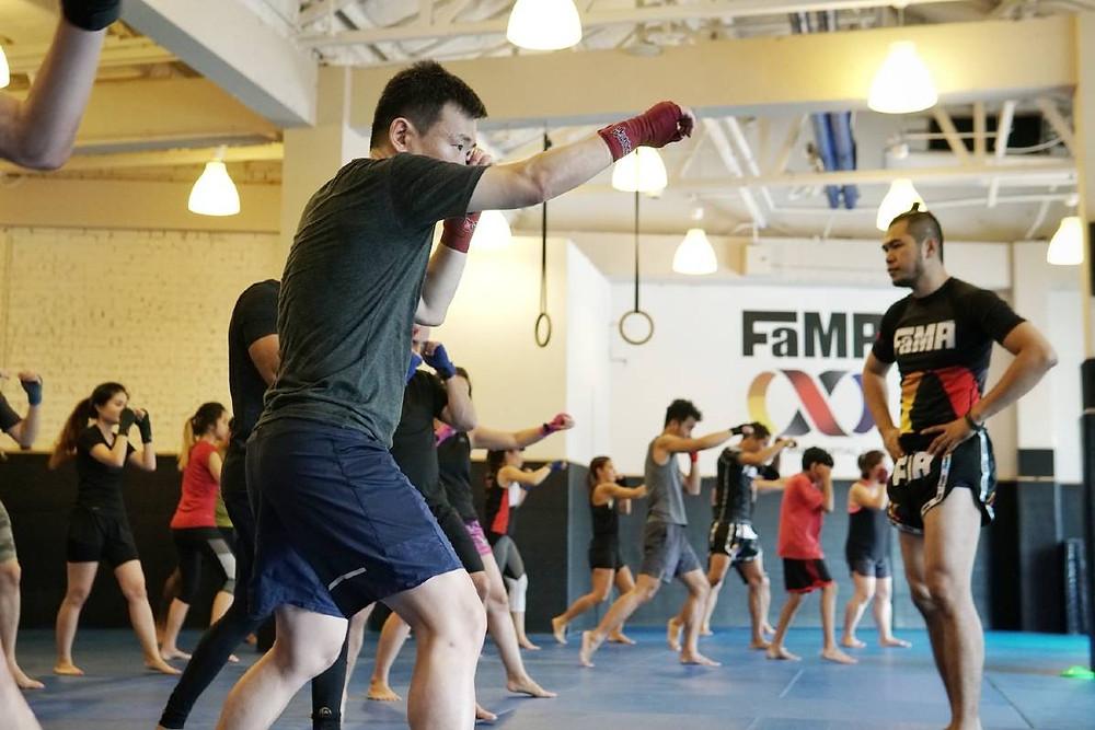 fama singapore muay thai kickboxing seminar kru jack boxing punch