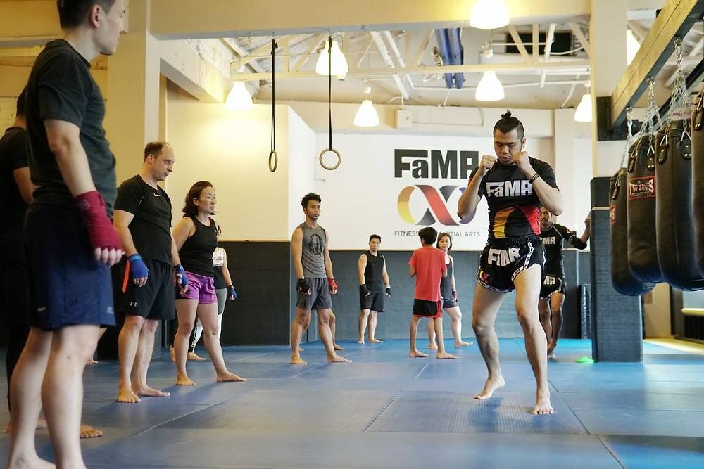 fama singapore muay thai kickboxing seminar kru jack boxing stance footwork