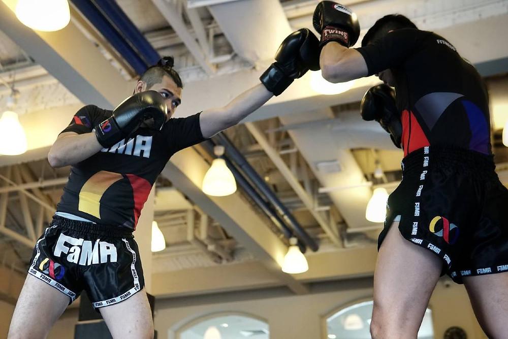 fama singapore muay thai kickboxing seminar kru jack boxing long jab