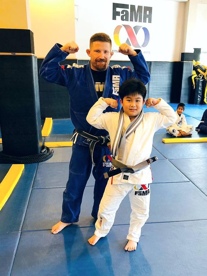 fama singapore kids brazilian jiu jitsu bjj belt promtion