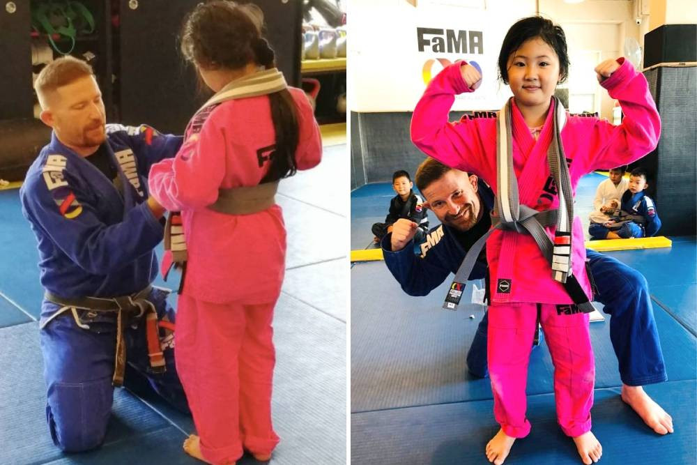 fama singapore kids bjj brazilian jiu jitsu belt promotion
