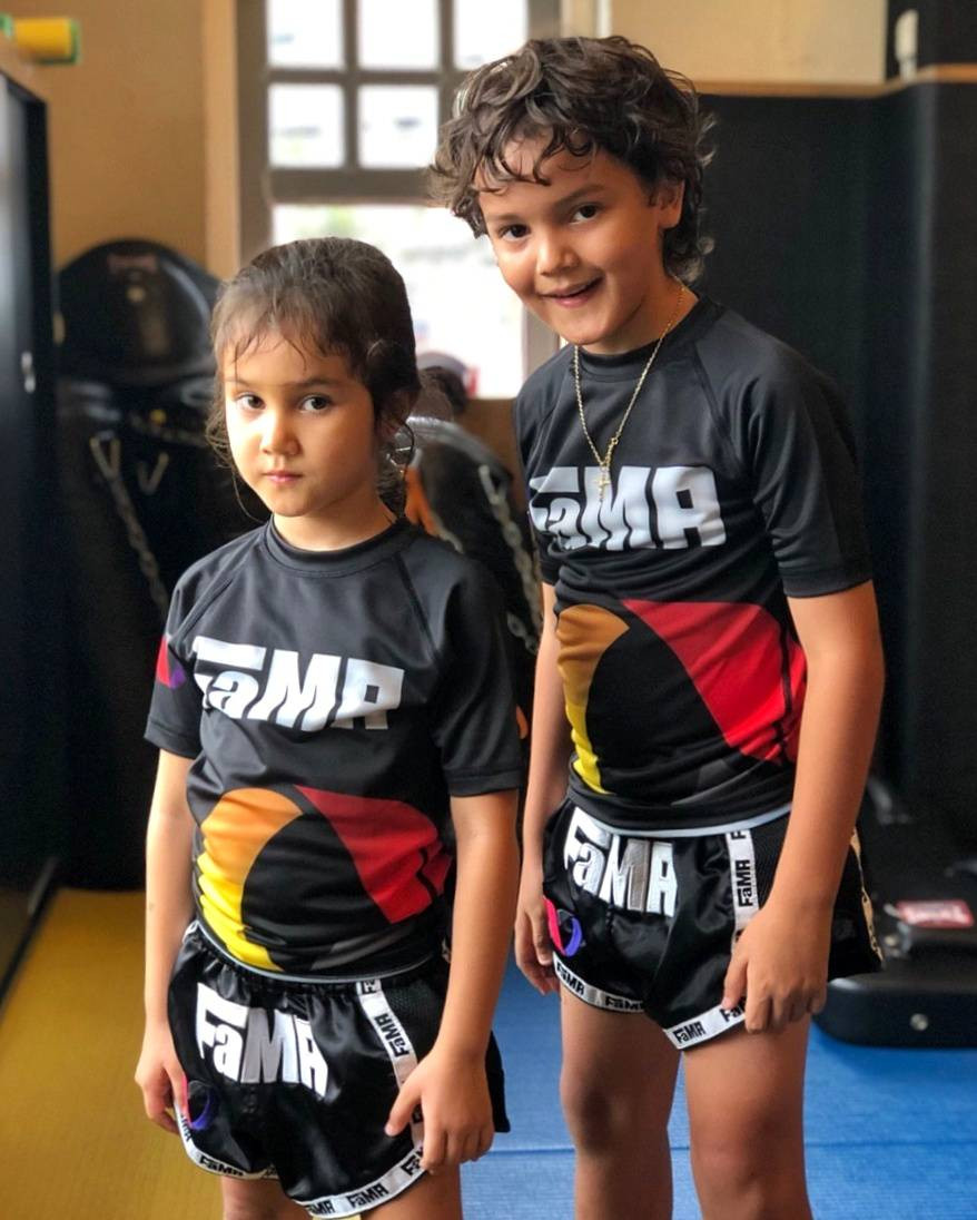 fama singapore kids martial arts brother and sister muay thai self defence