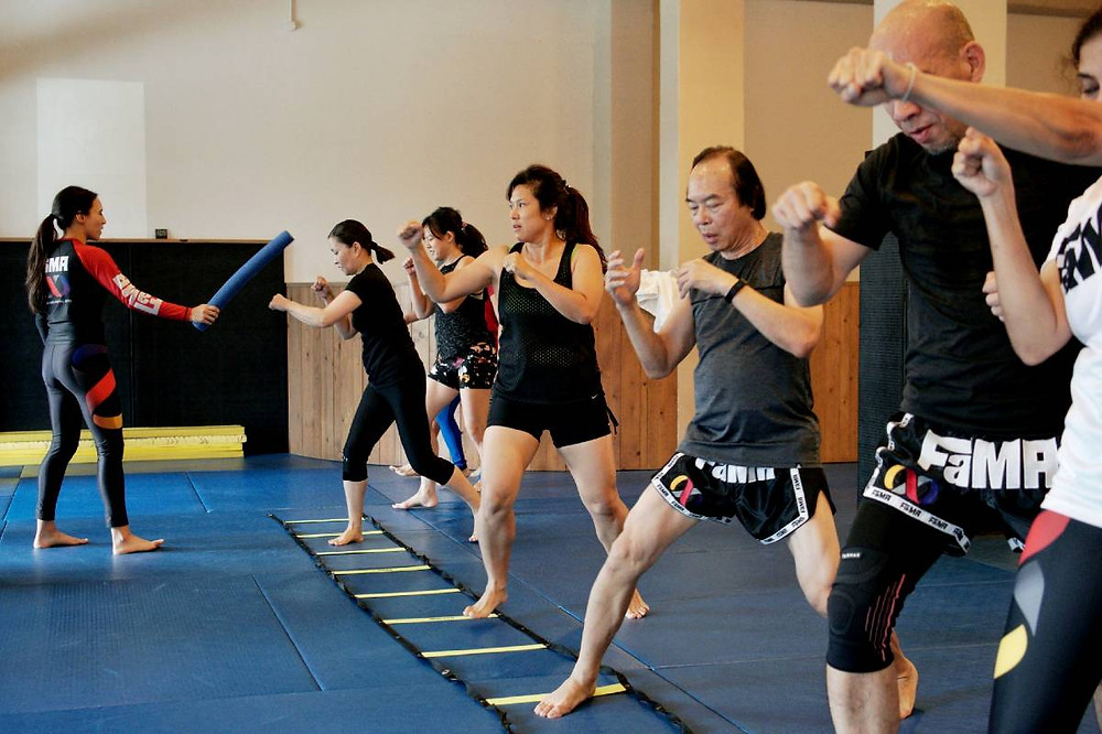 fama singapore boxing ladder drills fitness class with kirstie gannaway