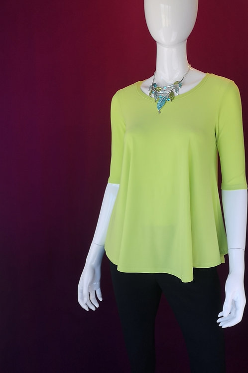 Lime Round-neck Top