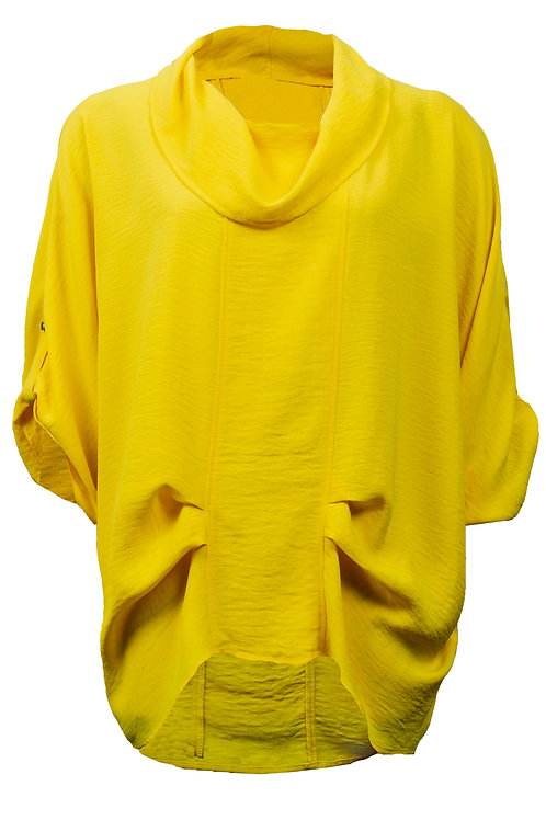 Cowl-neck 3/4 sleeve top in Sunshine by Joseph Ribkoff