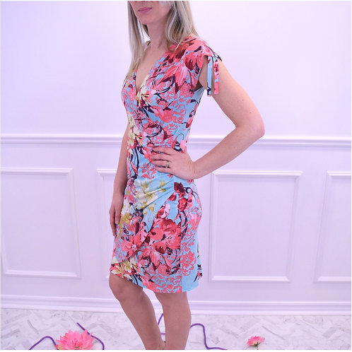 Ruched Shoulder X-over Dress by Bonita Bold