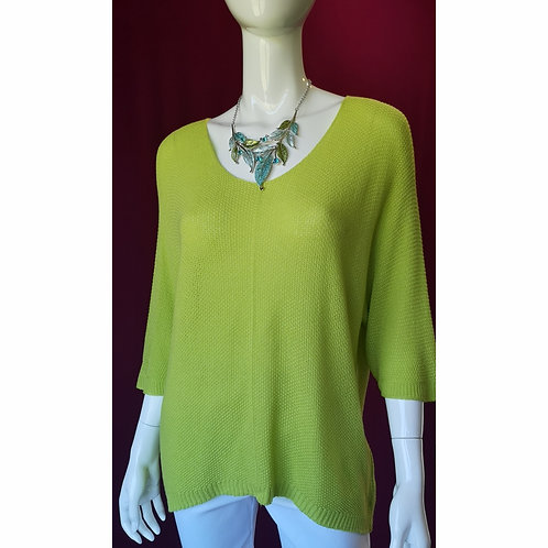 Lime Knit Sleeved Top