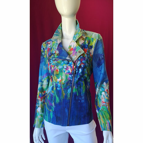Full Bloom Moto Zip Jacket