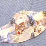 Winter wonderland cotton face-mask Bonit