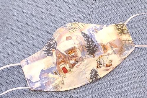 Winter Wonderland Cotton Face-mask by Bonita Bold