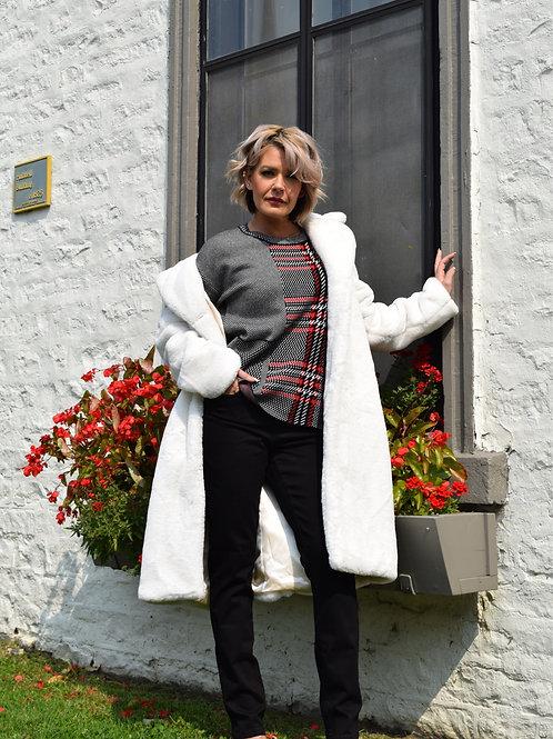 White Soft Faux Fur Coat