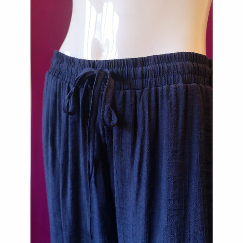 Boho Drawstring Capri in Navy