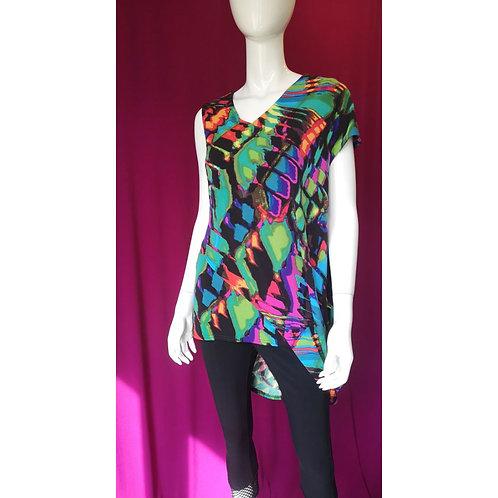 Colourful V-neck Summer Tunic