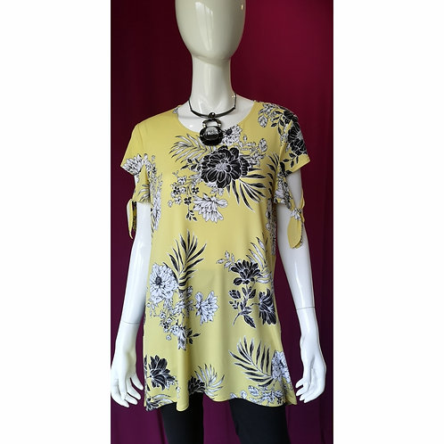 Joseph Ribkoff Flowy Tender Yellow Floral Top
