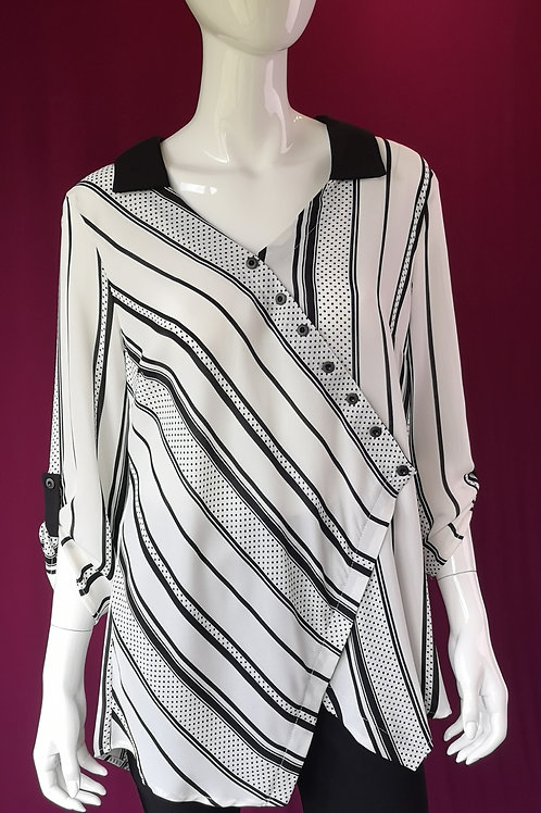 Funky Asymmetrical Collared Blouse
