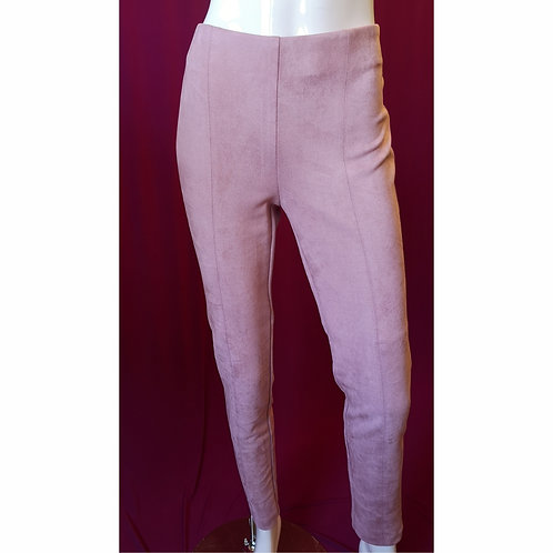 Pink faux-suede Pant