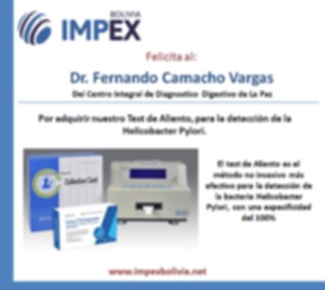 Agradecimiento Dr. Fernando Camacho Varg