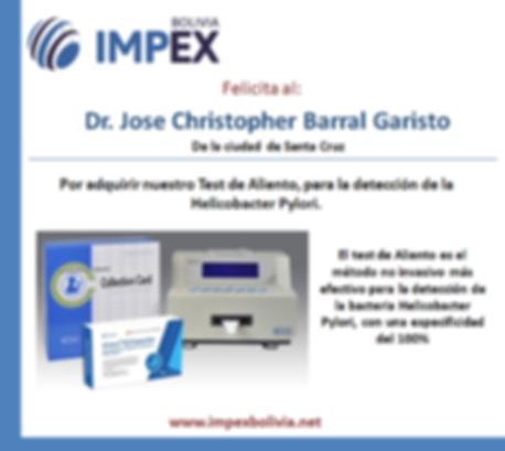 Agradecimiento Dr. Christopher Barral.pn