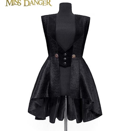 """Lionheart"" Vest - black silk"