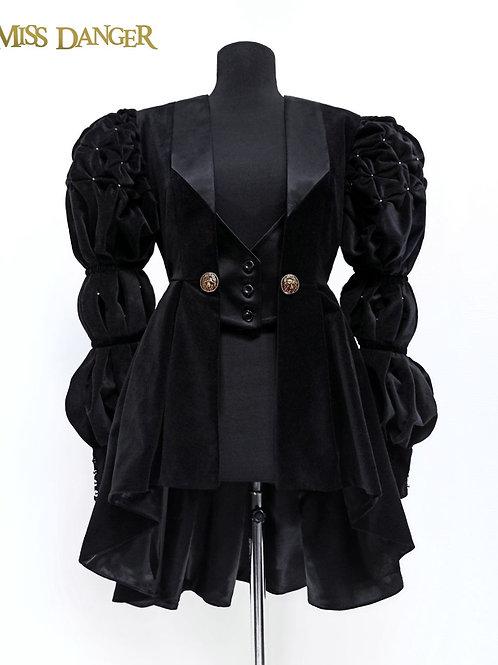 """Lionheart"" Jacket - black velvet - second payment"