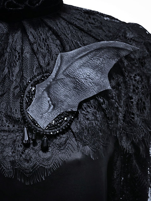 Bat wing brooch