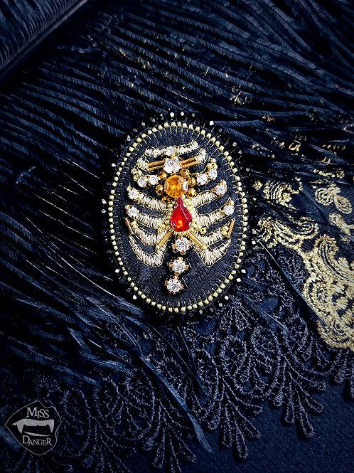 Cult Treasures Heavenly Bones brooch