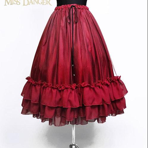 """Gothic Princess"" underskirt -Burgundy"