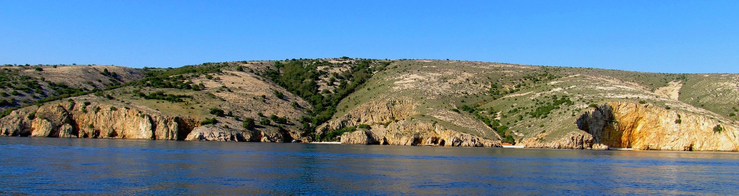 wild bays, Krk island by taxi boat Punat