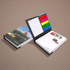 Haftnotiz-Büchlein mit Ausstanzung für USB-Stick