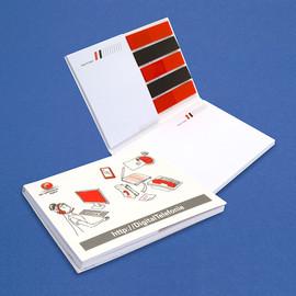 Haftnotizen und Page Marker in Umschlag Combi-Set