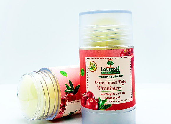Olive Oil Lotion in Tube (Cranberry)