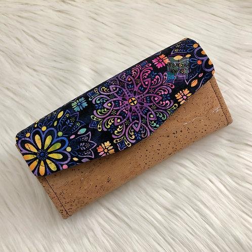 Purple Mandala Clutch Wallet