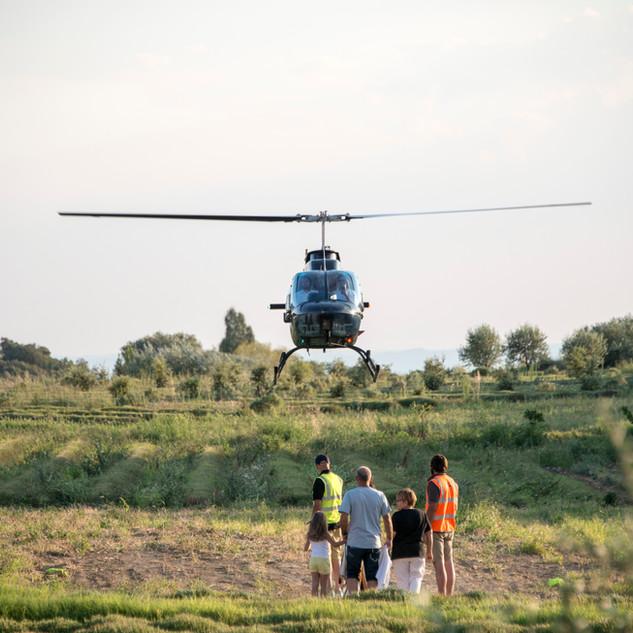 Visites du domaine en hélicoptère