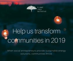Help us transform communities in 2019. Y