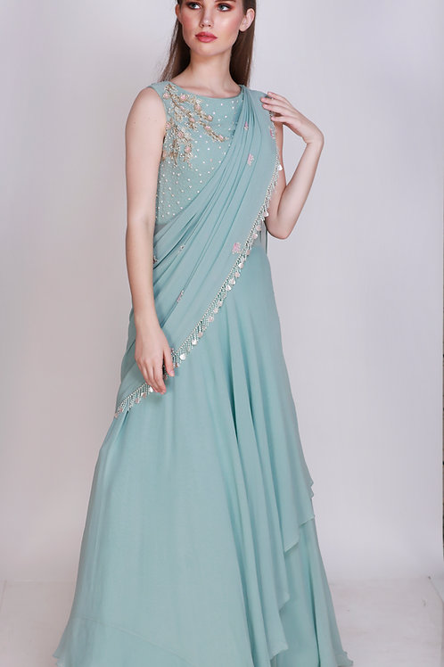 Layered Floor Length Gown