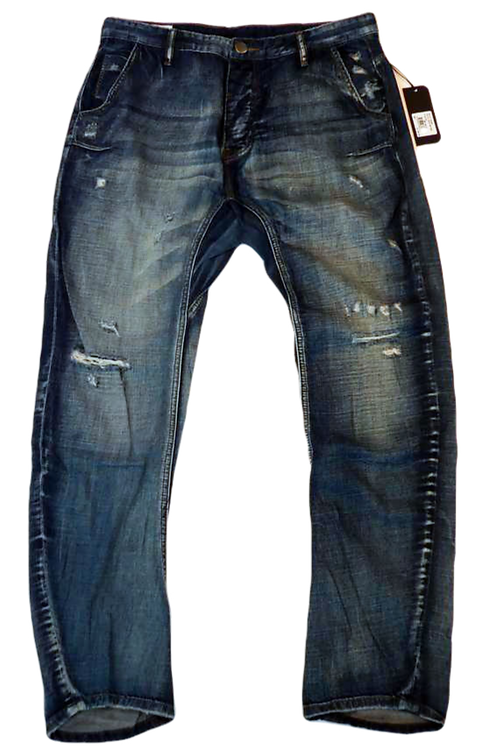 Mens One Teaspoon Mr Golds Jeans, Low Slung, Relaxed Fit (HFOT-19223A)