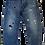 Thumbnail: Mens One Teaspoon Mr Browns Jeans,Rigid,Rlxed Leg,Tappered Ankle(HFOT-18630CREG)