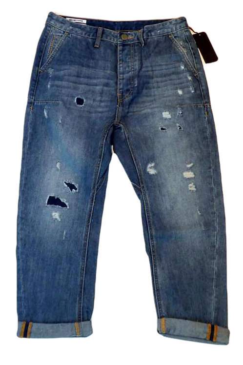 Mens One Teaspoon Mr Browns Jeans,Rigid,Rlxed Leg,Tappered Ankle(HFOT-18630CREG)