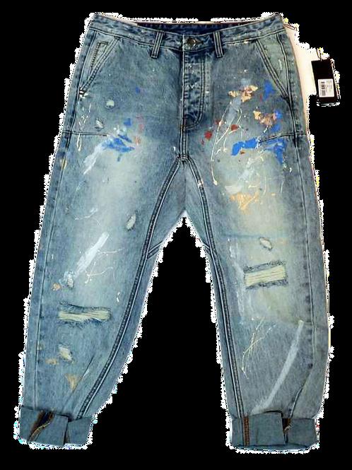 Mens One Teaspoon Mr Browns Jeans,Low Slung,RelaxLeg,Taper Ankle(HFOT-19222EREG)
