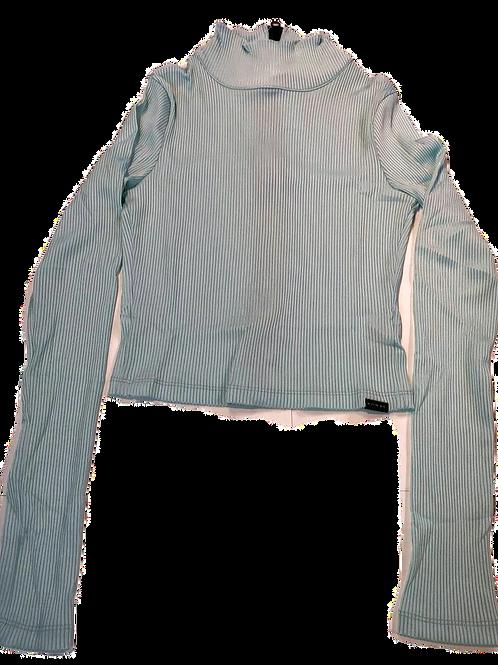 Womens Koral Utile Rib Gloss Long Sleeve Crop Top (HFKOR-A6438R20)