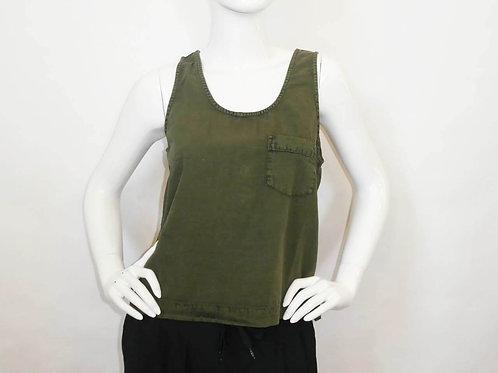 Kavu Womens Kamea Tank Button Back -Military Green (ELAV-KA2120-60)