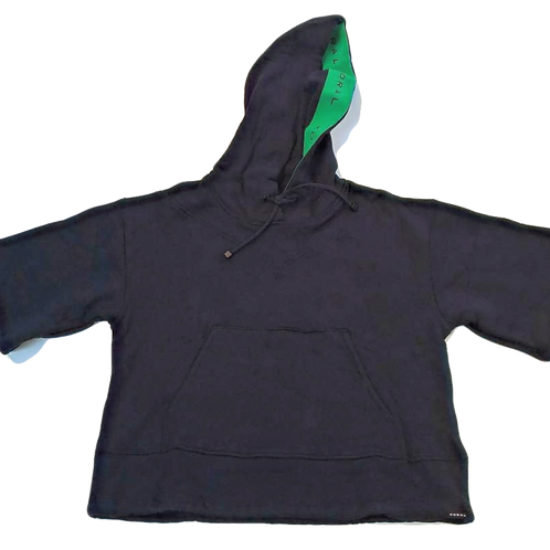 Womens Koral Clover Matte Cropped Tied Sweatshirt (HFKOR-A6316F74)