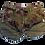 Thumbnail: Womens One Teaspoon Khaki Hibiscus Bandits Shorts (HFOT-23259)